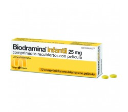 BIODRAMINA INFANTIL (25 MG 12 COMPRIMIDOS )